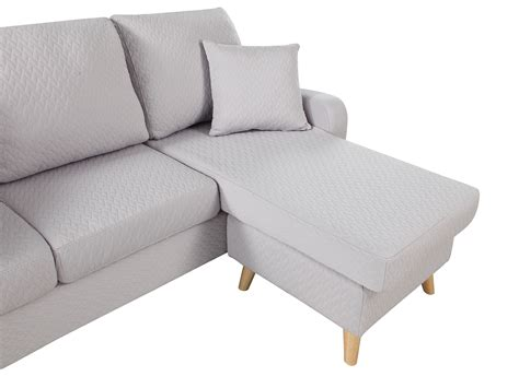 light gray sectional sofa with chaise modern fabric small space sectional sofa with reversible