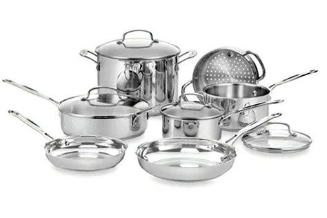 cuisinart chefs classic stainless steel cookware set  piece cutlery