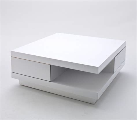 white gloss coffee table coffee table high gloss white with 2 pull out drawers 1312