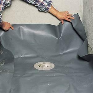 Etancheite Bac A Douche : etanch ifier une douche de plain pied avec un film en pvc ~ Premium-room.com Idées de Décoration