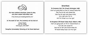 wedding direction card wording simple wedding invites With directions for wedding invitations wording