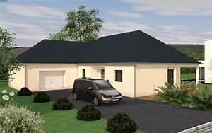 Maison de plain pied de avec toiture 4 pans et 3 chambres for Beautiful agrandir sa maison prix 3 maison de plain pied de avec toiture 4 pans et 3 chambres
