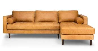 Tufted Accent Chairs by Sven Charme Tan Right Sectional Sofa Sectionals