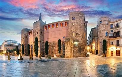 Barcelona Spain Desktop Quarter Gothic Wallpapers Travel