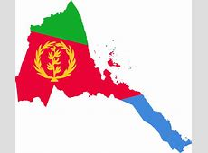 Clipart Eritrea Flag Map