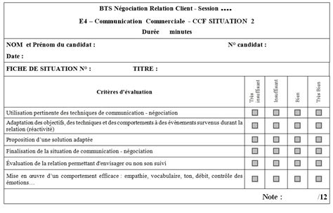 fiche d évaluation de formation modele 201 preuve e4 aide bts nrc overblog
