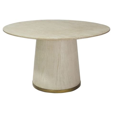 gold round dining table palecek conrad coastal gold trim ivory round dining table