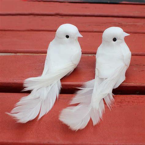 pcscm decorative fake doves artificial foam