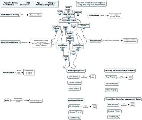 Nursing Concept Maps Templates by Nursing Concept Map Template Sanjonmotel