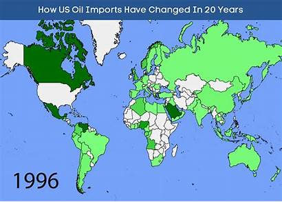 Oil Imports Map 1996 Import Its Maps