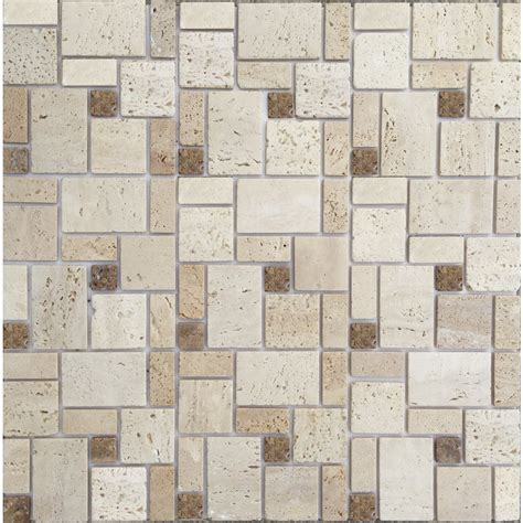 instant mosaic 12 in x 12 in natural stone mosaic peel