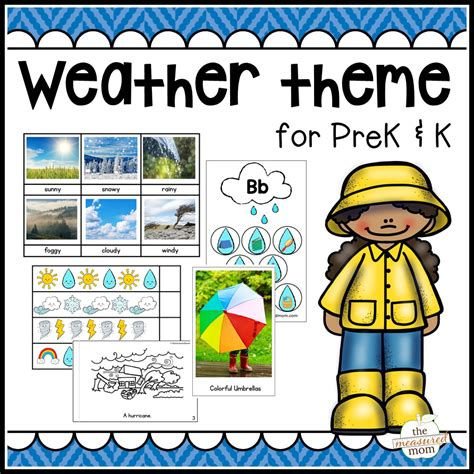 weather theme for preschool amp kindergarten the measured 794 | weather theme cover