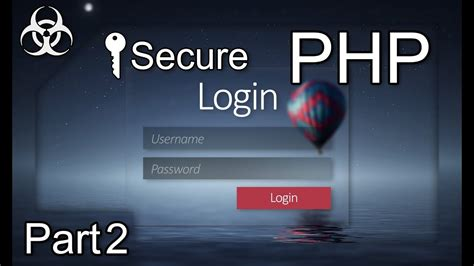Secure Login Form Authentication System (cookies, Sessions