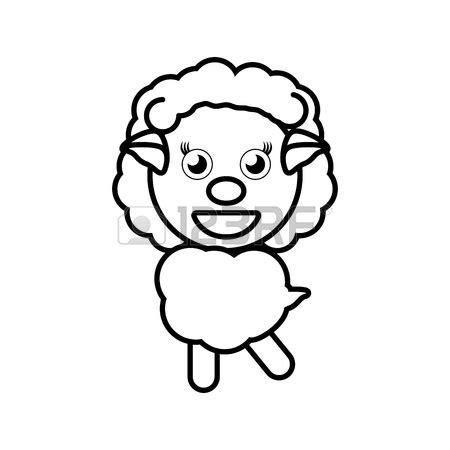 sheep face drawing  getdrawings