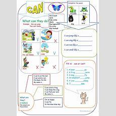 Can For Kids Worksheet  Free Esl Printable Worksheets Made By Teachers
