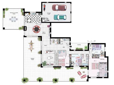maison de plain pied  detail du plan de maison de plain
