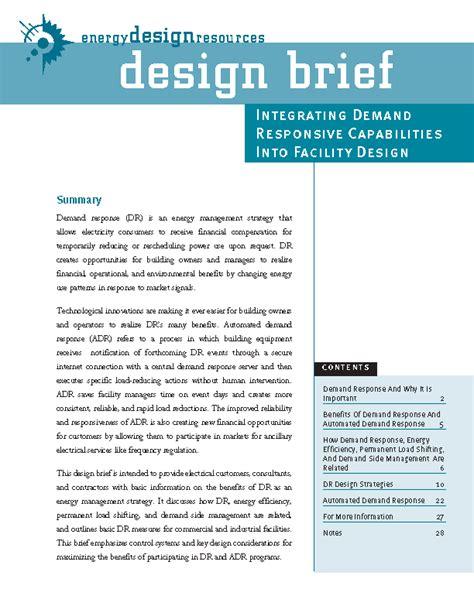 Energy Design Resources  Design Briefs Page