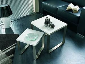 Beistelltisch Set Weiß : h24 wohnzimmertisch tisch couchtisch beistelltisch lunas 2er set hochglanz wei ebay ~ Frokenaadalensverden.com Haus und Dekorationen