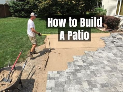 How To Build A Patio by How To Build A Patio An Easy Do It Yourself Project