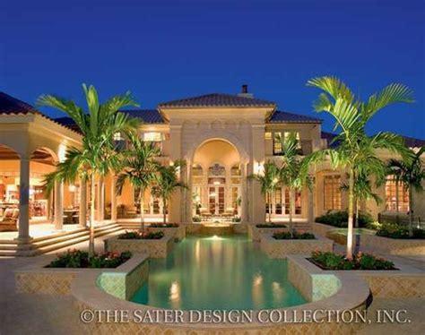harmonious mediterranean luxury house plans cordillera luxury home plan sater design collection