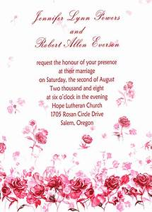 romantic pink rose wedding invitations ewi223 as low as 0 With free printable rose wedding invitations