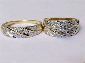Cheap wedding rings sets for him and her for Cheap bridal wedding ring sets