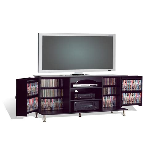 60 inch tv stand 60 inch plasma tv stand with media storage in black finish fastfurnishings com