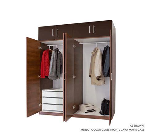 8 door set of hanging and 3 interior drawers wardrobe