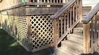 lattice under deck How To Build A Lattice Around The Deck - YouTube