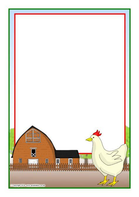 hen  page borders sb sparklebox