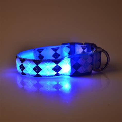 light for collar multi color pets dogs rhombus collar puppy