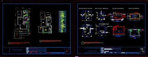 plumbing plan  storey house dwg detail  autocad