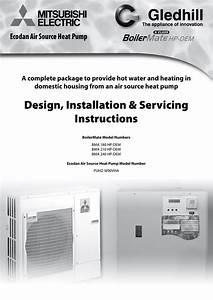 Design  Installation  U0026 Servicing Instructions Ecodan Air