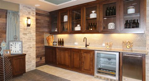 Custom Bar Cabinets by Bar Photos Burrows Cabinets Central Builder