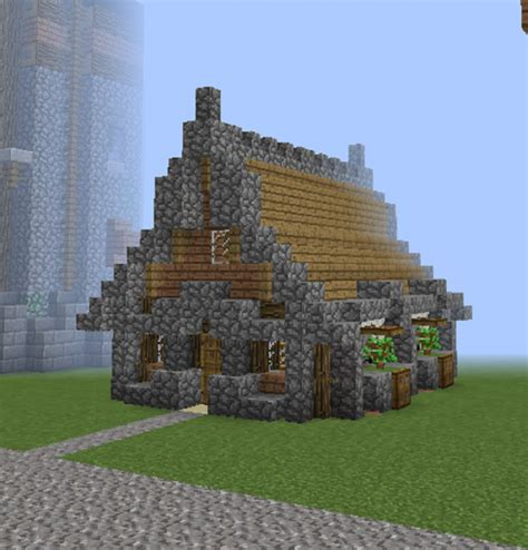 medieval community unfurnished villager house blueprints  minecraft houses castles towers