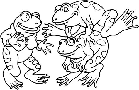 free printable frog coloring pages for 840 | Coloring Page of Frogs