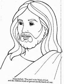 coloring pages jesus face images