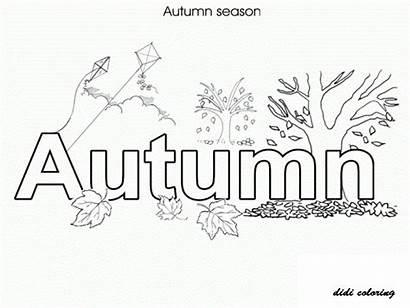 Coloring Autumn Pages Seasons Colouring Fall Season