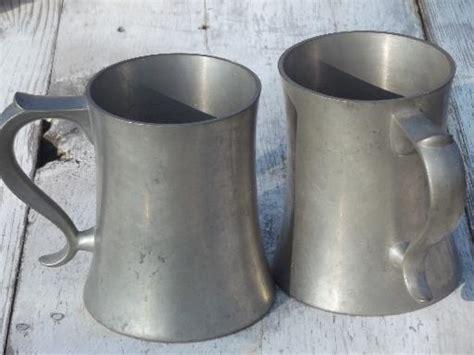 reed barton pewter tankards heavy pewter vintage steins mugs