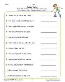verb sheet education world school express verbs worksheet