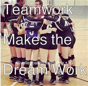 Team Volleyball... Short Volleyball Team Quotes