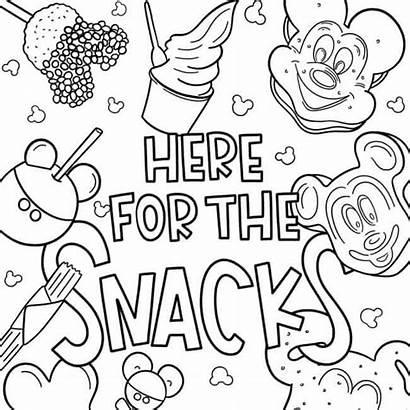 Coloring Popular Snack Disney Snacks