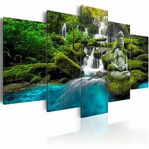 Bilder Natur Leinwand : leinwand bilder xxl kunstdruck bild buddha natur wasserfall c c 0019 b n ebay ~ Markanthonyermac.com Haus und Dekorationen