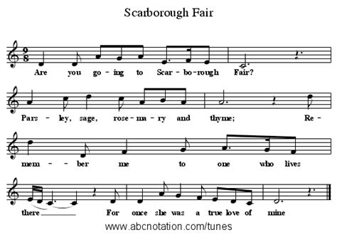 Abc  Scarborough Fair Wwwjoeoffercomfolkinfosongs
