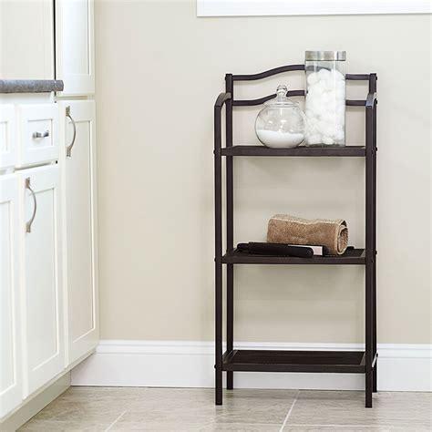 bathroom storage rack in bathroom shelves