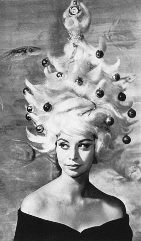 christmas hair 1962 a very retro chistmas pinterest