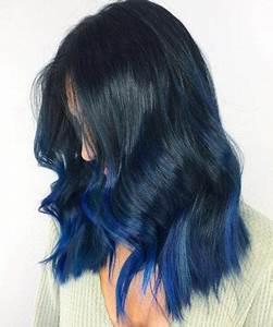 Blaue Haare Ombre : die besten 25 highlights schwarze haare ideen auf pinterest balayage schwarzes haar ~ Frokenaadalensverden.com Haus und Dekorationen