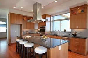 Couleur Cuisine Moderne : cuisine cuisine moderne bois avec blanc couleur cuisine ~ Melissatoandfro.com Idées de Décoration