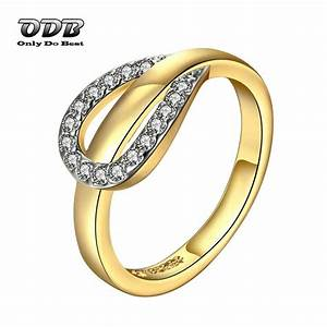 women ring aaa zircon stone 18k 24k real yellow gold With cheap yellow gold wedding rings
