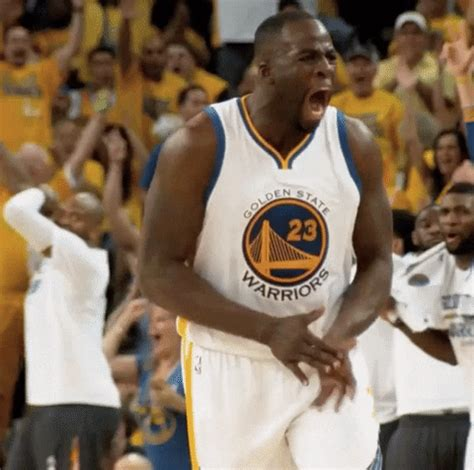 yell golden state warriors gif  nba find share  giphy